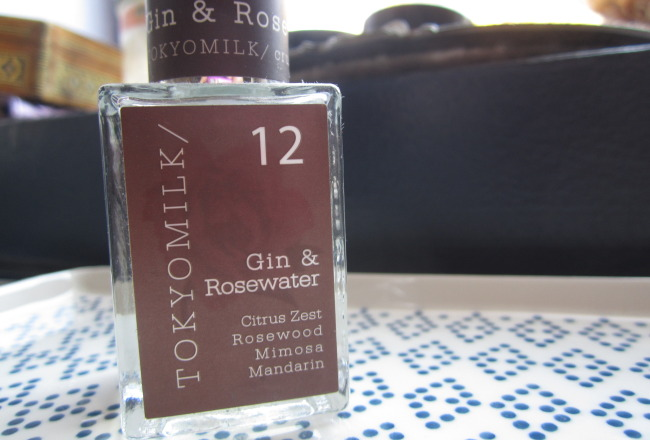 Tokyo Milk perfume, fragrance, Gin and Rosewater