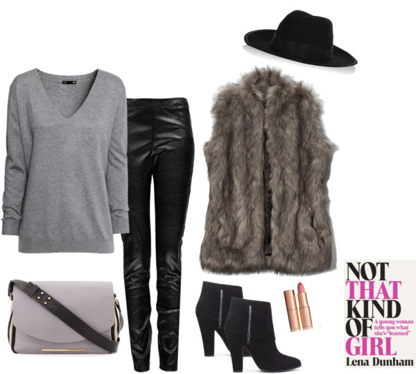 fall style picks featuring faux fur vest