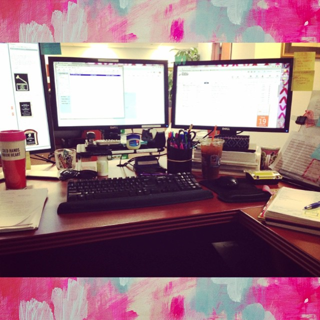 Hey #monday, can you be done already? #stressed #sleepy #threemonitors #twocoffees #amillionemails #hustle