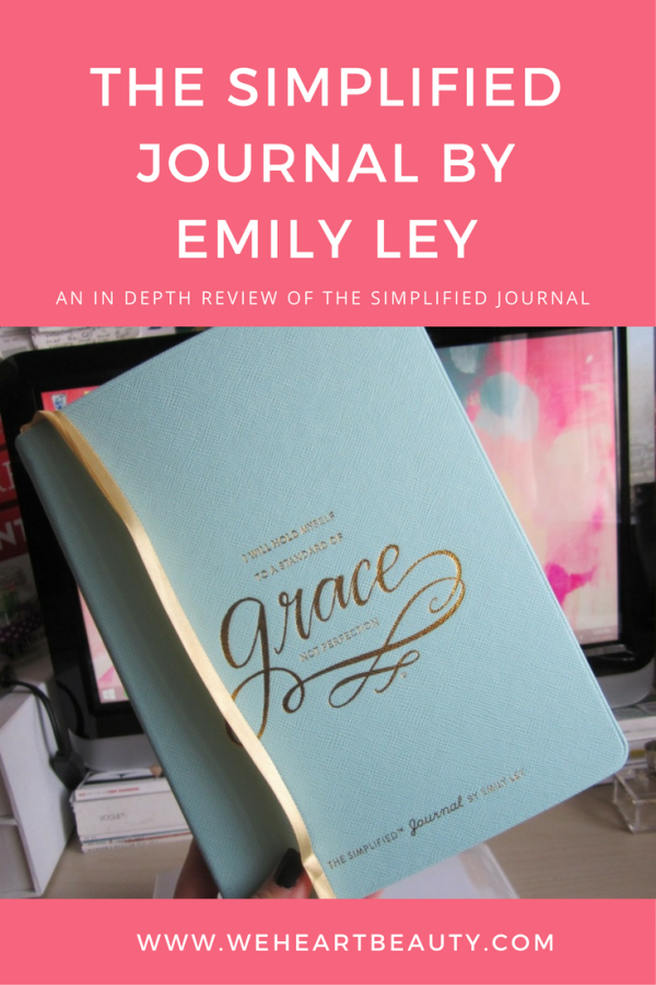 """The Simplified Journal by Emily Ley In Depth Review about the original journal and how it helps """"forced journaling"""" for anyone who gets lots in thought"""