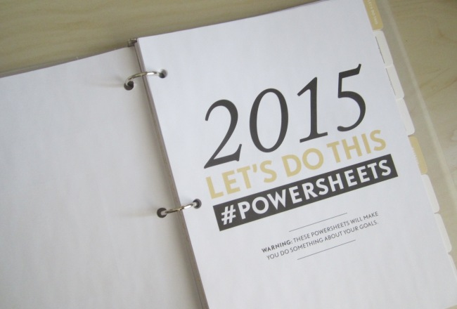 Powersheets 2015 by lara casey