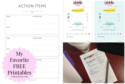 free printables organization meal planning we heart beauty weheartbeauty planner