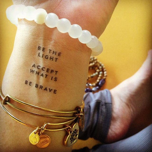 be light accept what is be brave intention tattoo jess lively