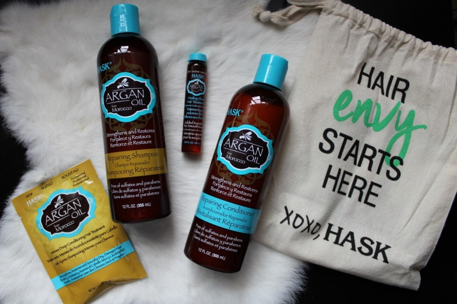 Hask Argan Oil review shampoo conditioner