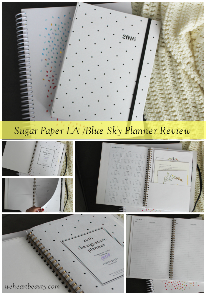 sugar paper la blue sky planner review weheartbeauty