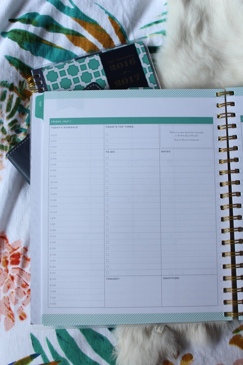 daily day designer for blue sky planners target daily planning page